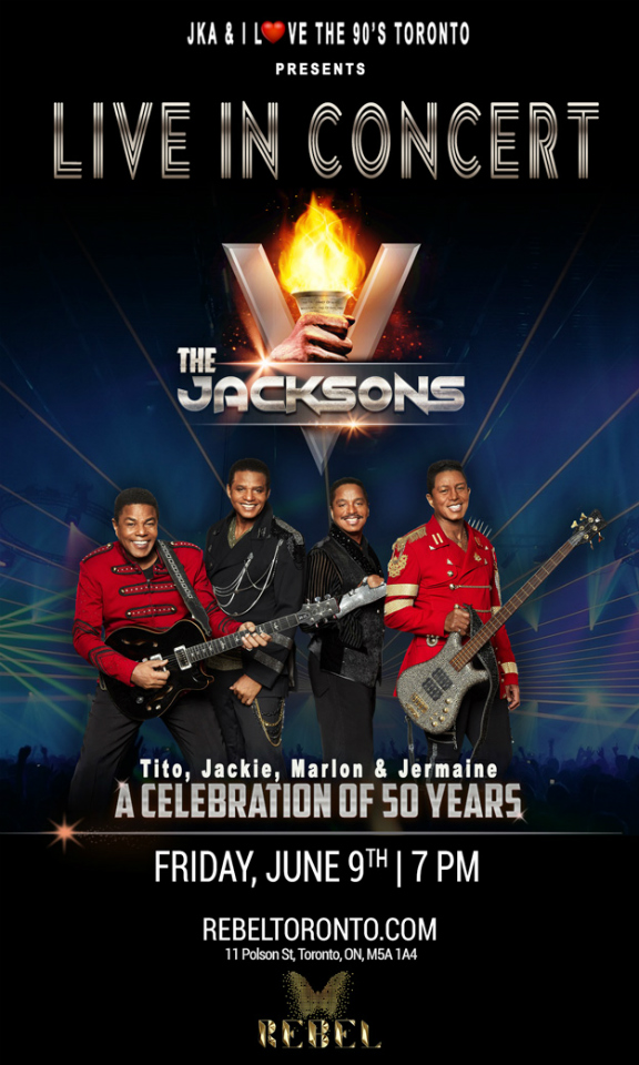 THE JACKSON'S LIVE IN CONCERT