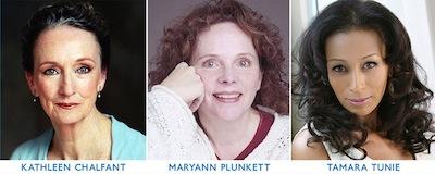 Kathleen Chalfant, Maryann Plunkett, and Tamara Tunie