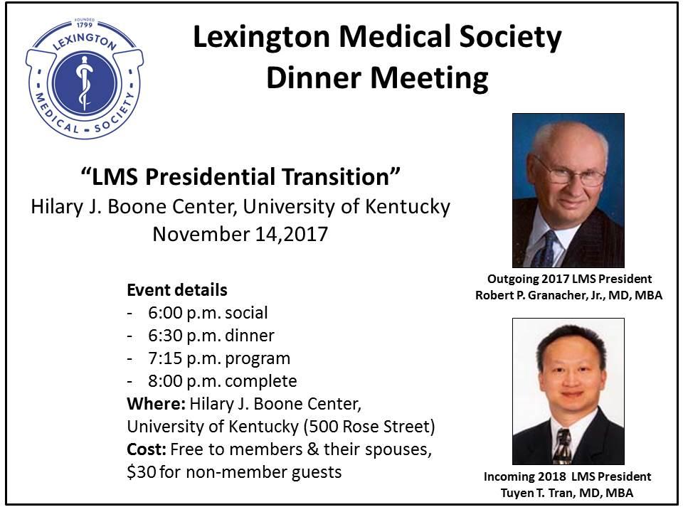 LMS Dinner Meeting Jan 16 2018