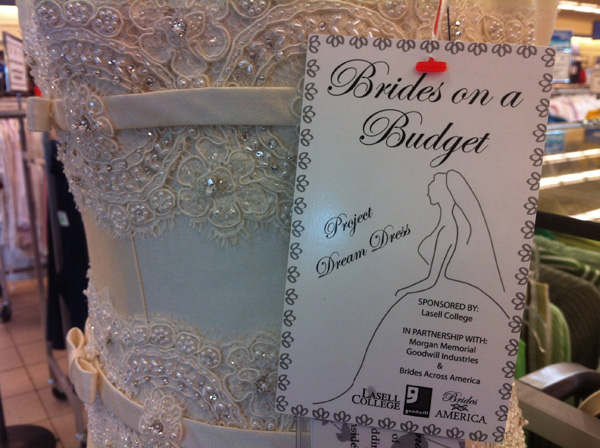 Goodwill Brides Budget Priscilla Boston Wedding Gown