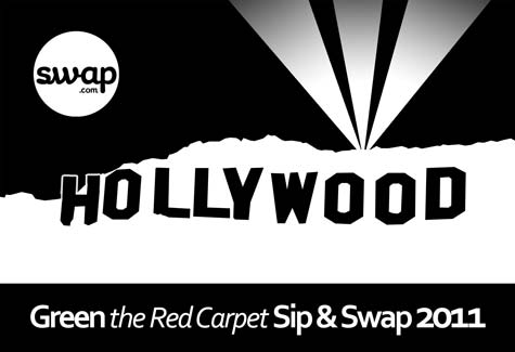 the swapaholics LA sip & swap green the red carpet clothing swap