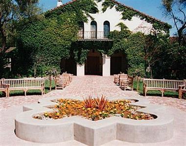 Lucie Stern Center front courtyard