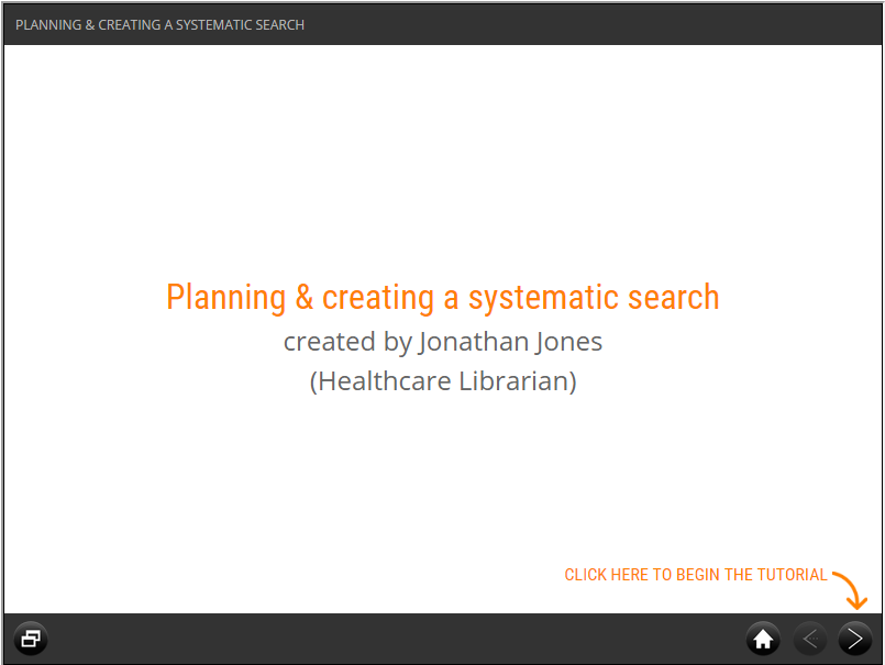 Planning and creating a systematic search screenshot