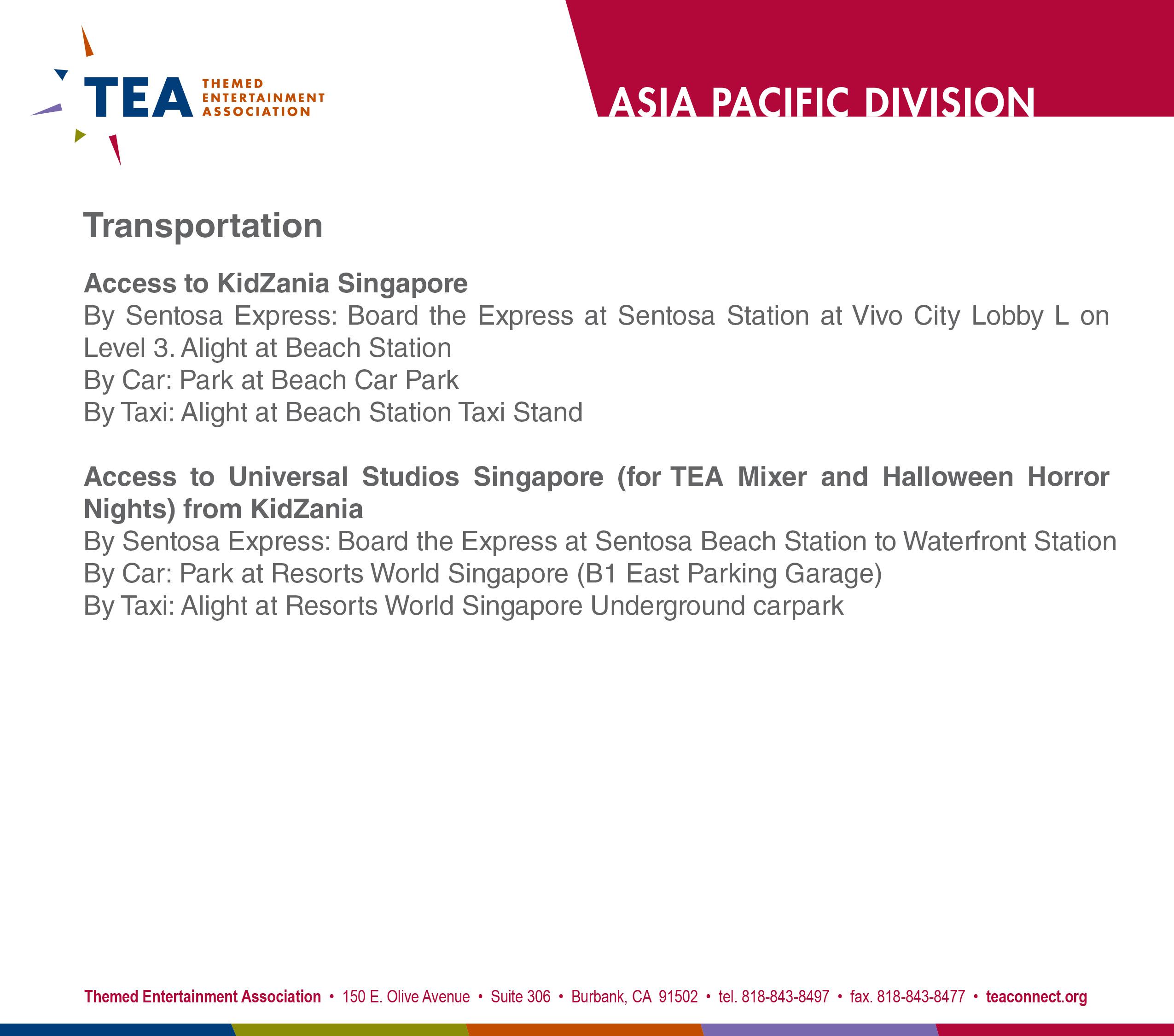 TEA KidZania Singapore Back f