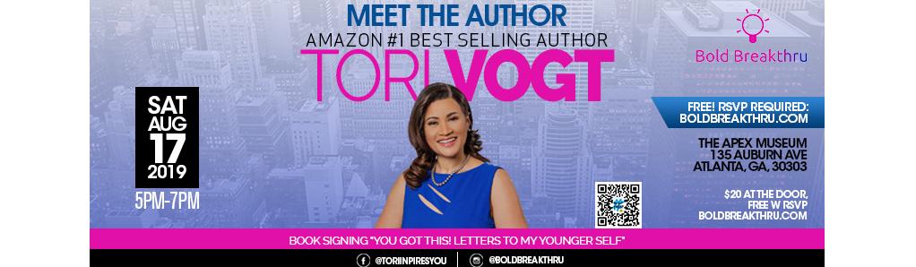 Tori Vogt Author Book Signing