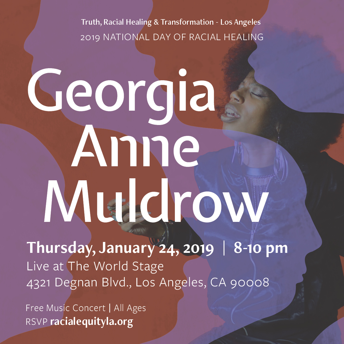 Flyer for Georgia Anne Muldrow Concert