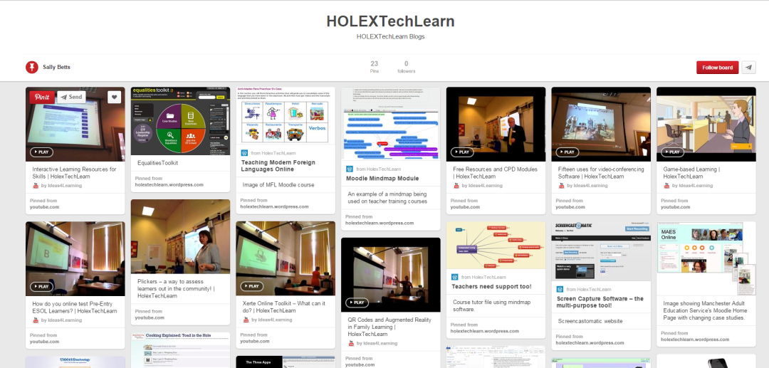 Screenshot from the HOLEXTECHLEARN blog