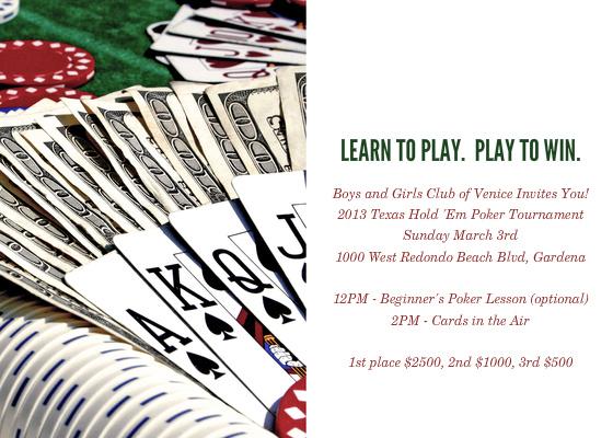 2013 Poker Invite