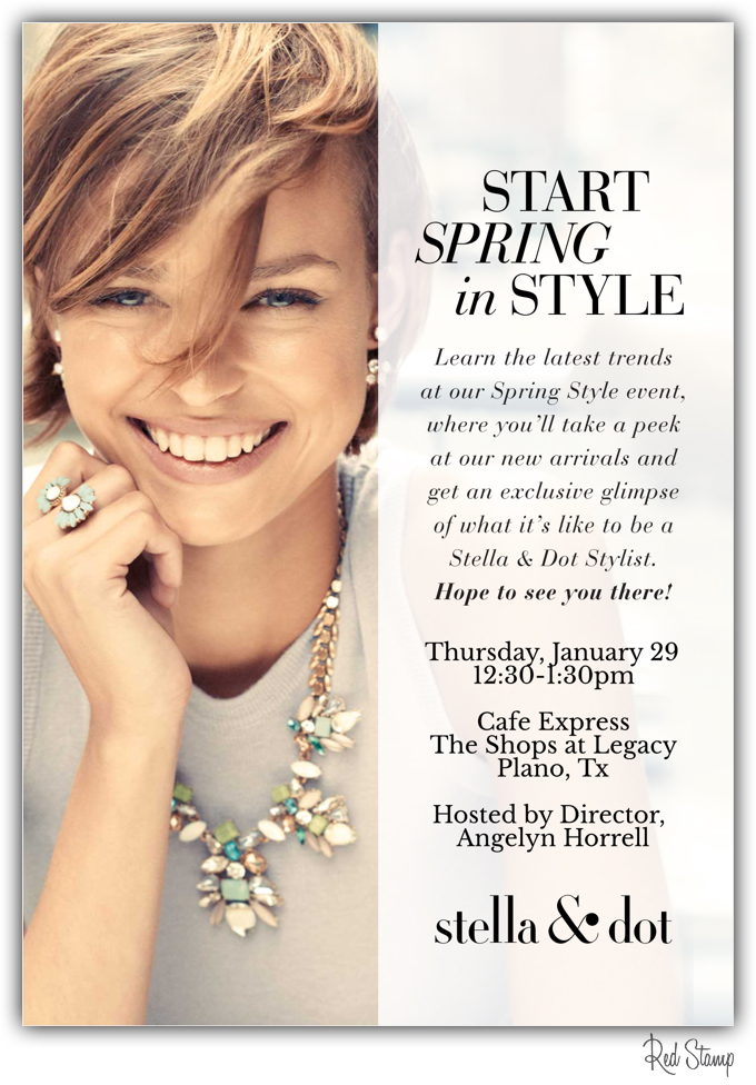 New year new opportunity come learn more about stella for Stella and dot san francisco
