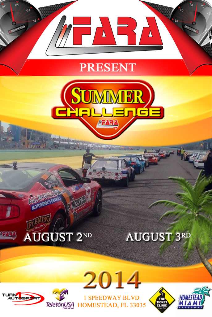 Fara Summer Challenge August 3 Homestead MiamiSpeedway
