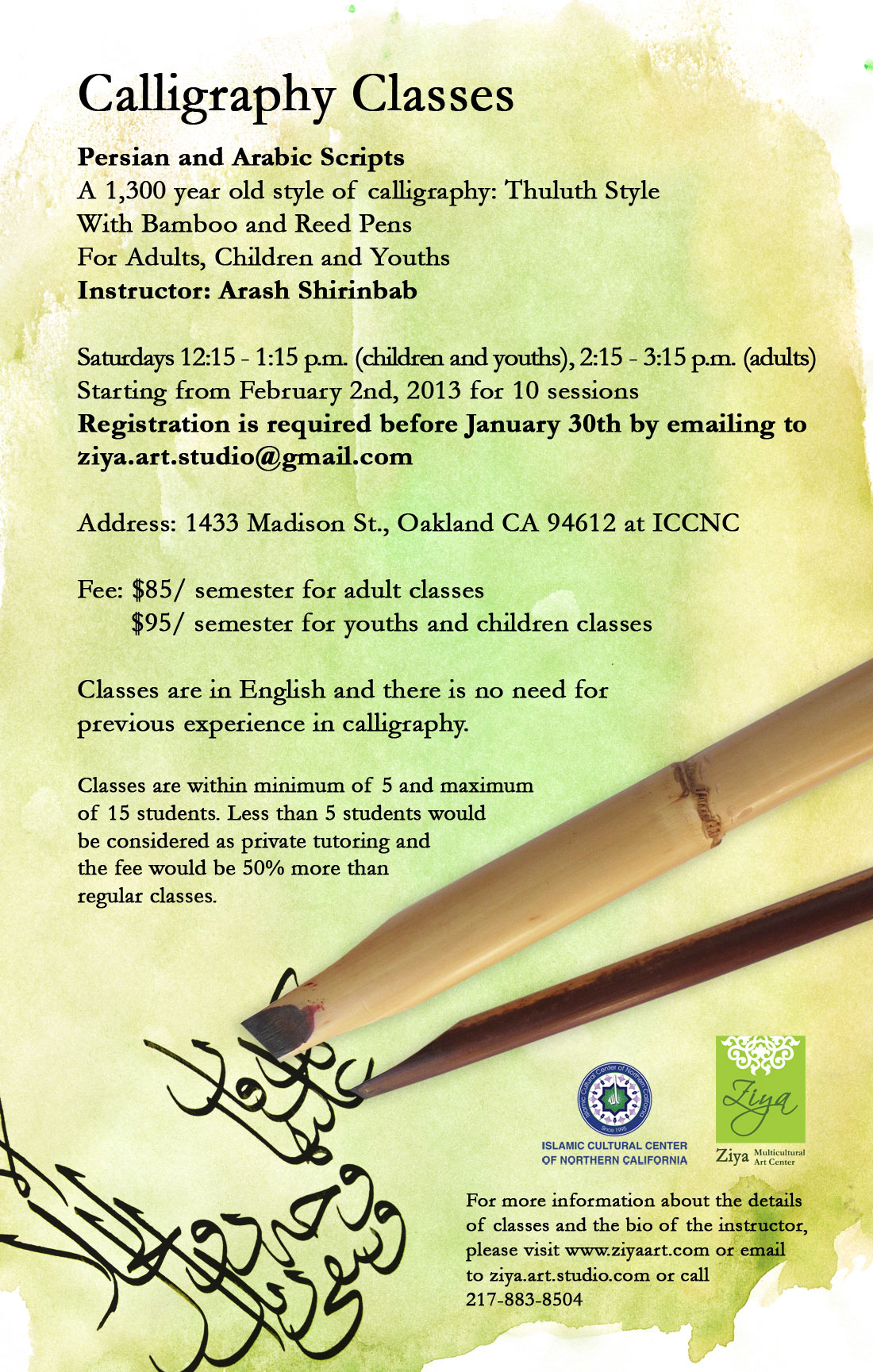 Calligraphy Classes Persian And Arabic Scripts Tickets