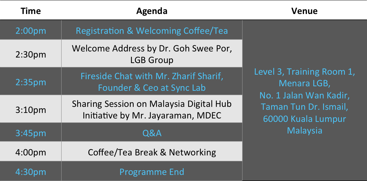 Menara LGB - Journey to Successful Startup event details