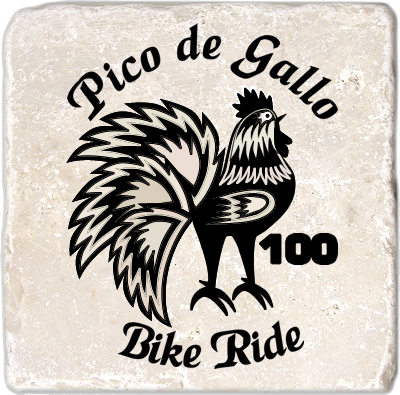Pico de Gallo 100 Natural Stone Coaster