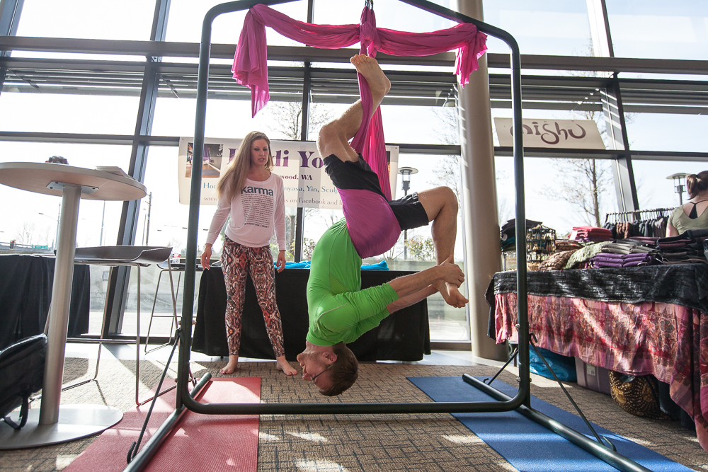 Aerial Yoga in the Mindful Marketplace at the Northwest Yoga Conference