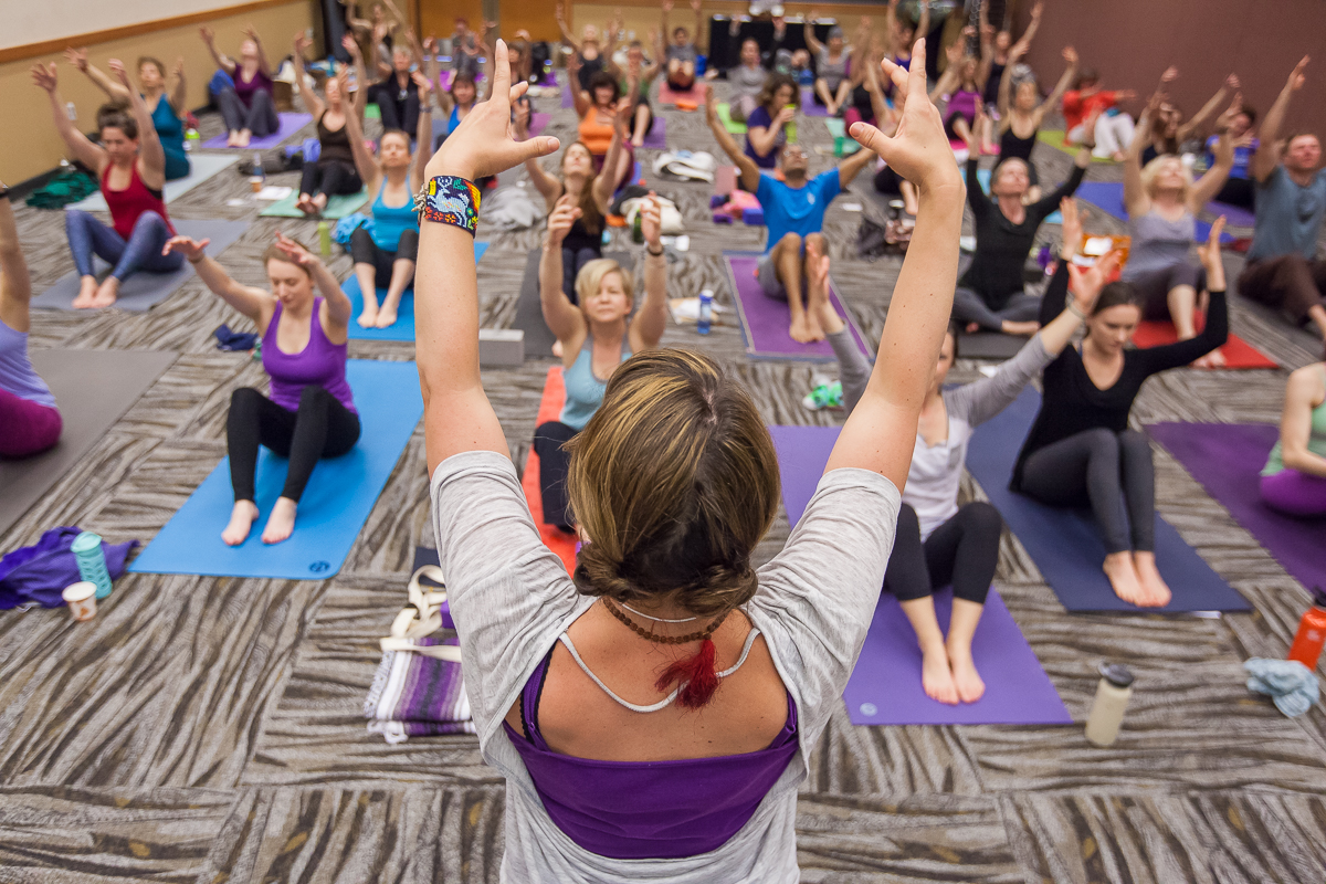 Amber Tande leading Bhakti Yoga Class at Northwest Yoga Conference