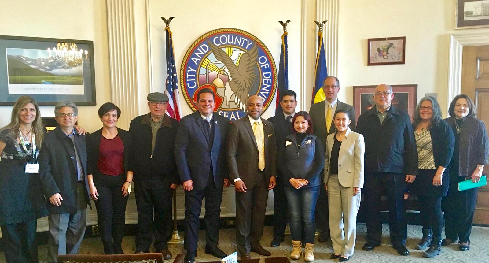 First Mexican River Sisters Delegation, visiting Mayor Michael Hancock