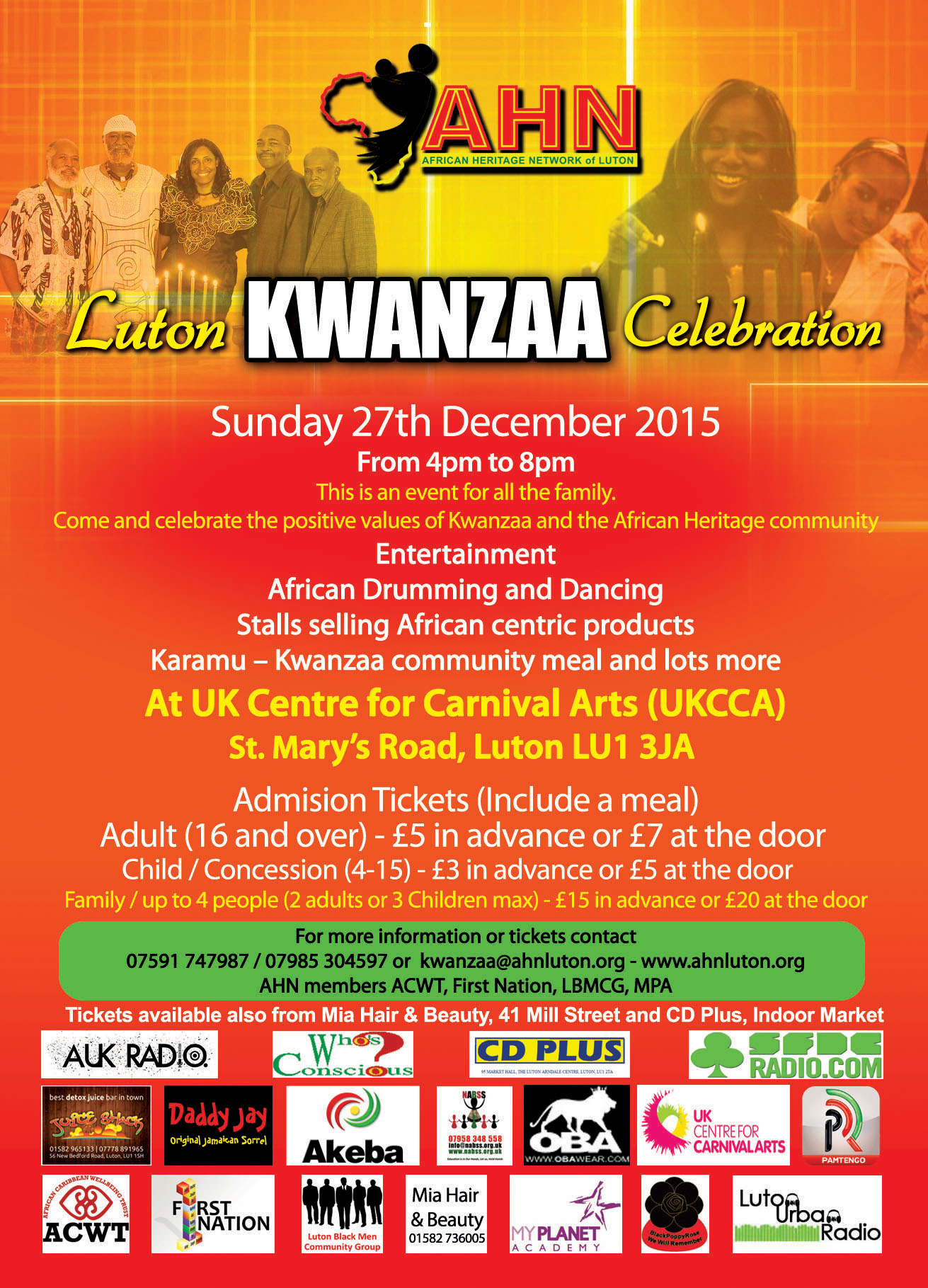 AHN Luton Kwanzaa 27th Dec 2015