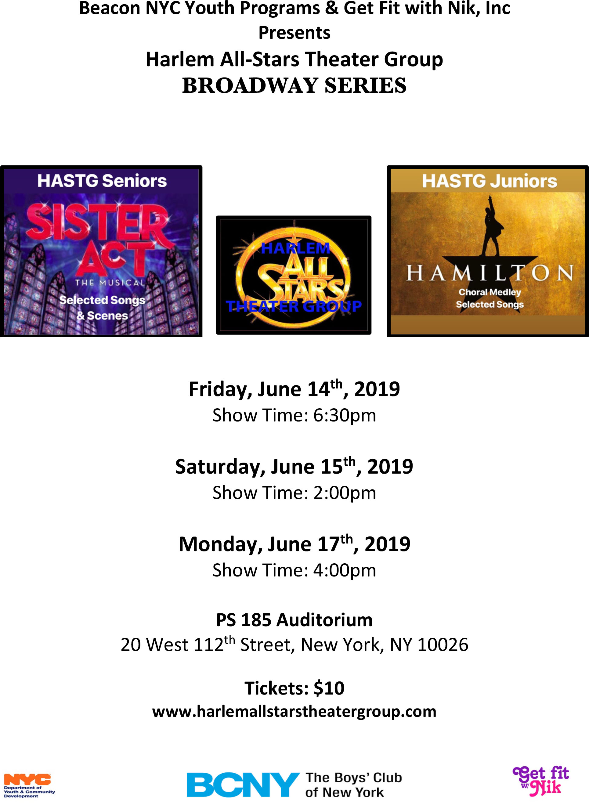 Harlem All-Stars Theater Group Broadway Series