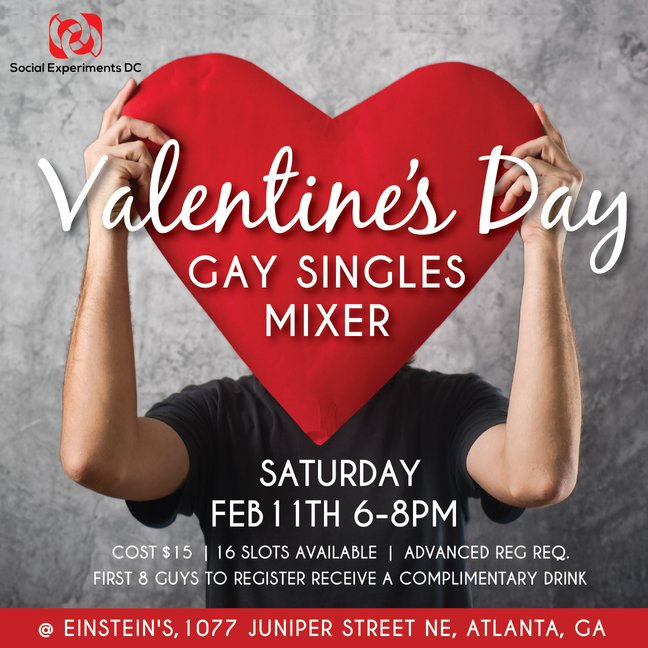 valentines day gay singles mixer flyer