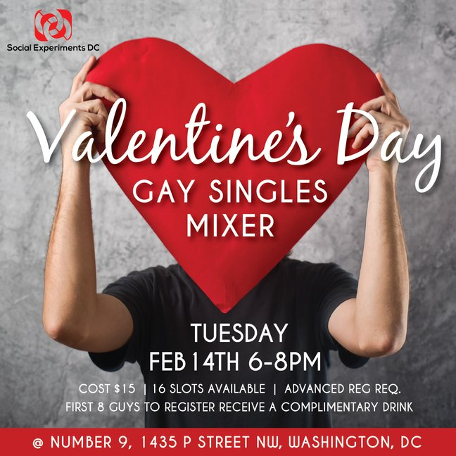 Valentine     s Day Gay Singles Mixer  DC Tickets  Tue  Feb