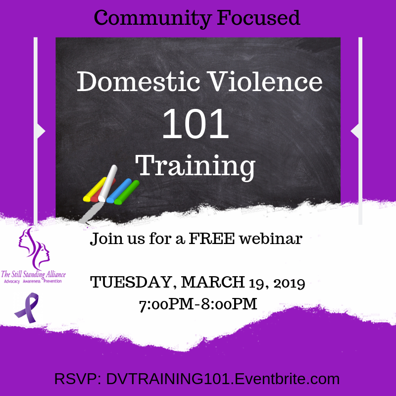 The Still Standing Alliance Domestic Violence Training 101
