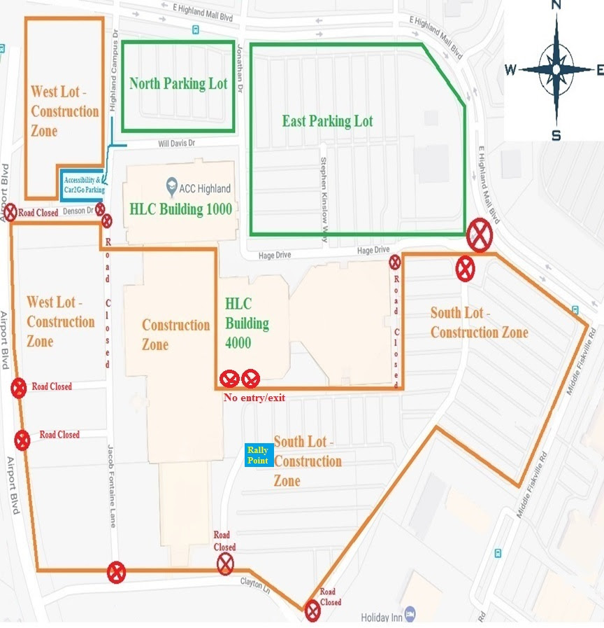 ACC Highland Construction Map