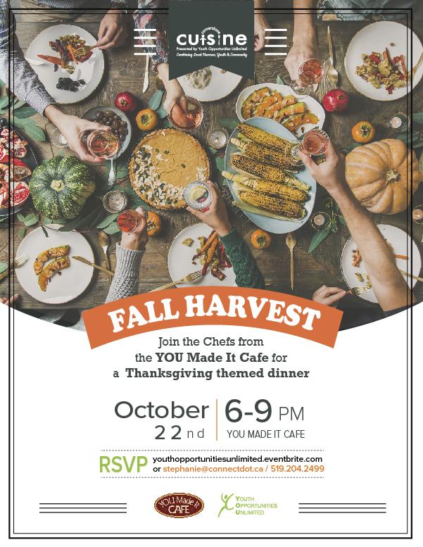 October 22 Cornerstone Cuisine