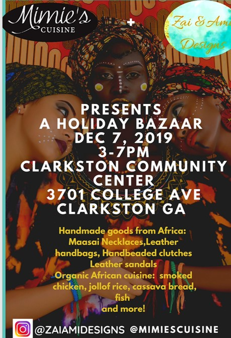 African Holiday Bazaar: A shop & dine event