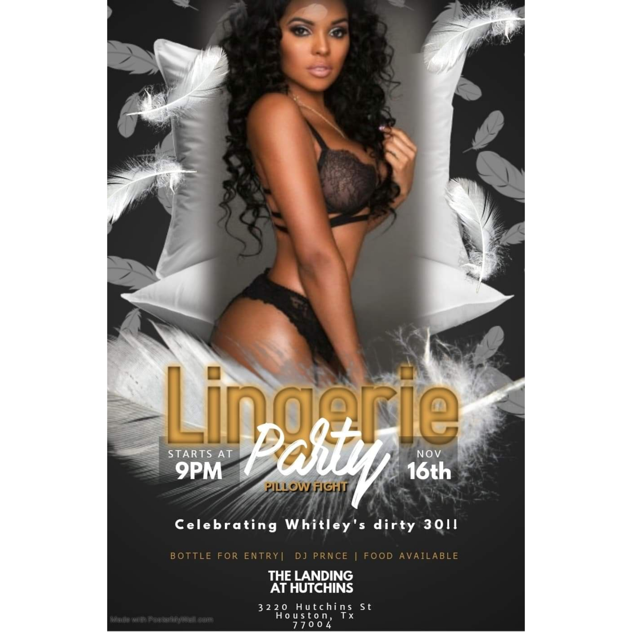 Lingerie birthday party