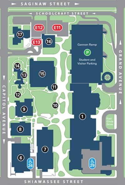 LCC Gannon Building Map
