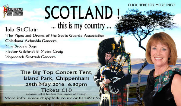 postcard image of Scotland Big top gig