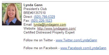 Sponsor Lynda Gann 925.766.5329