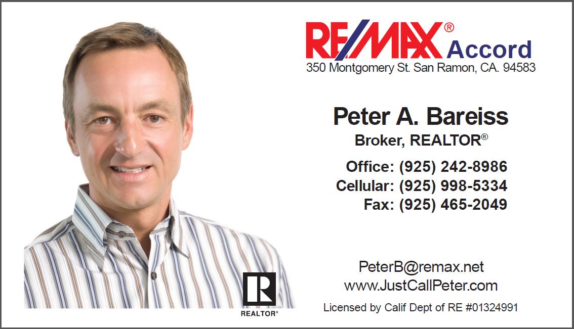 Sponsor Peter Bareiss 925-242-8986