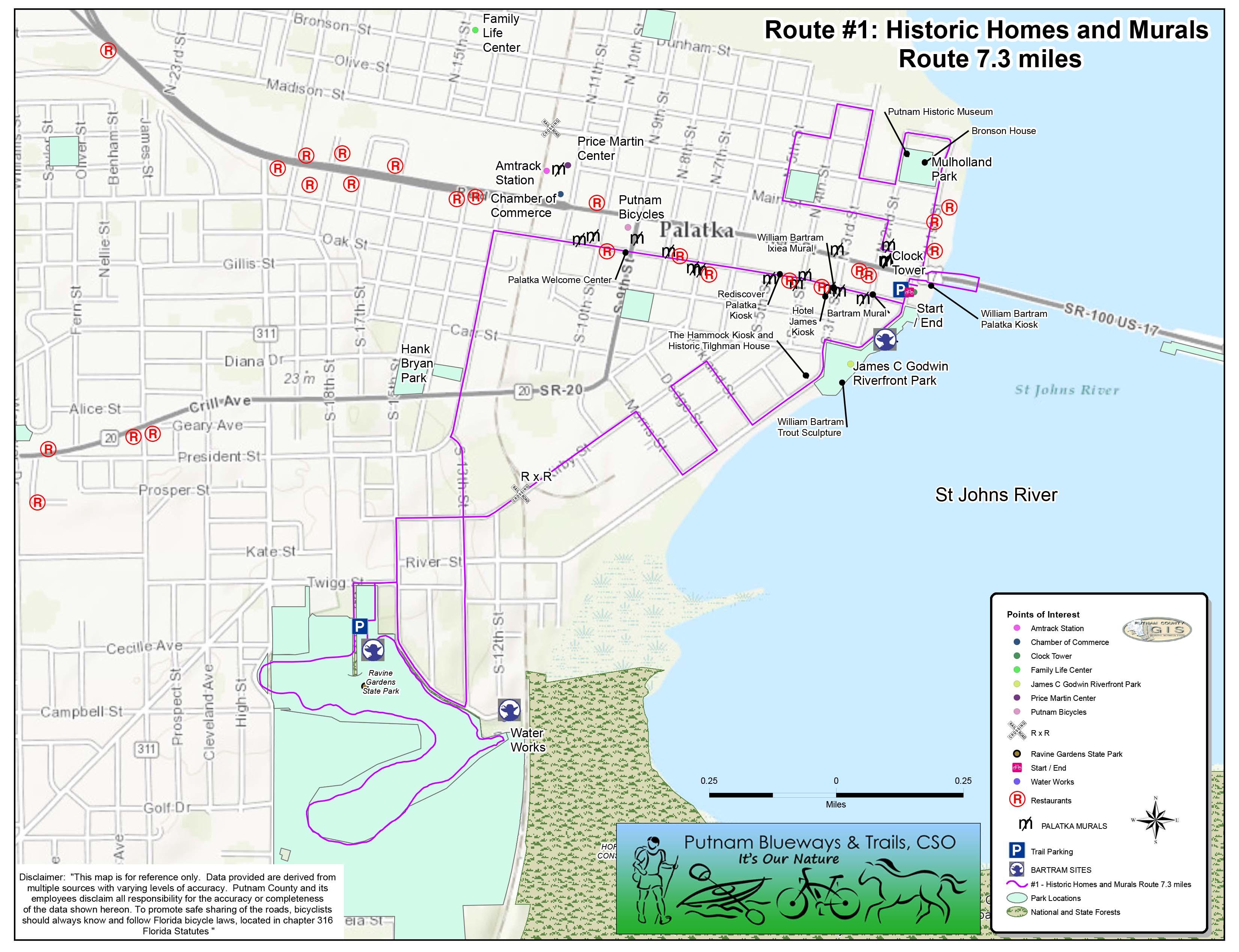 Bike Tour Route Map