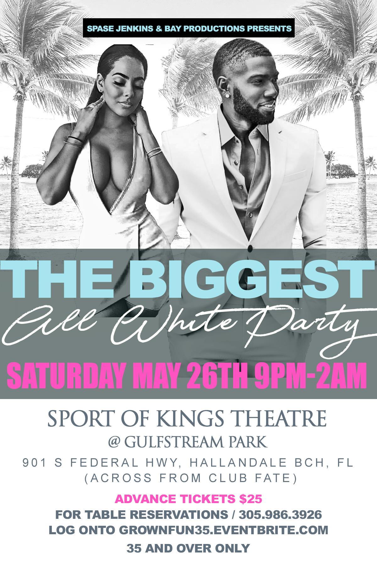 Sat May 26th All White Affair