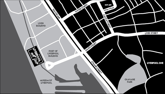 Location Map of Liverpool Art Fair 2017