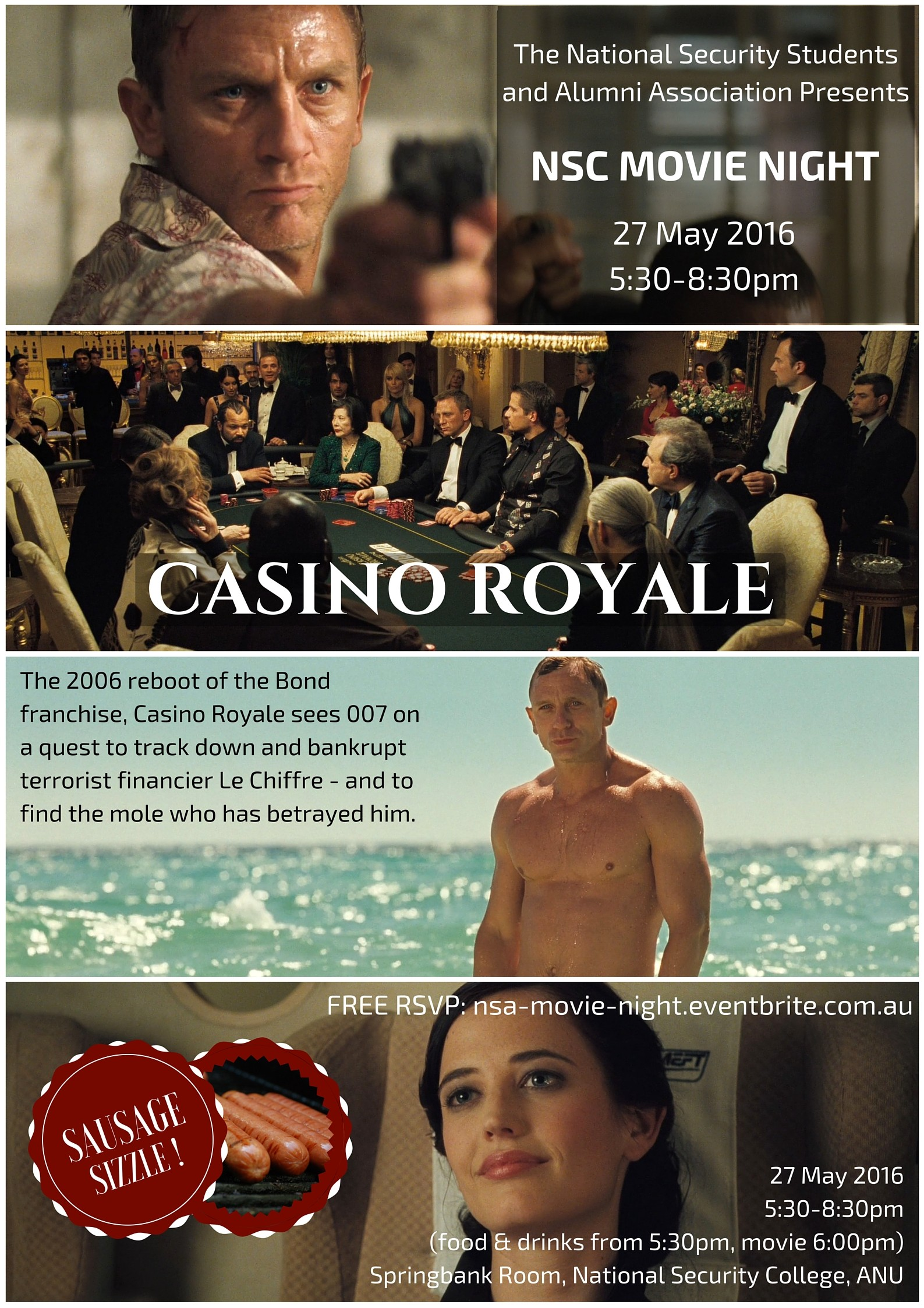 NSSAA Casino Royale Poster