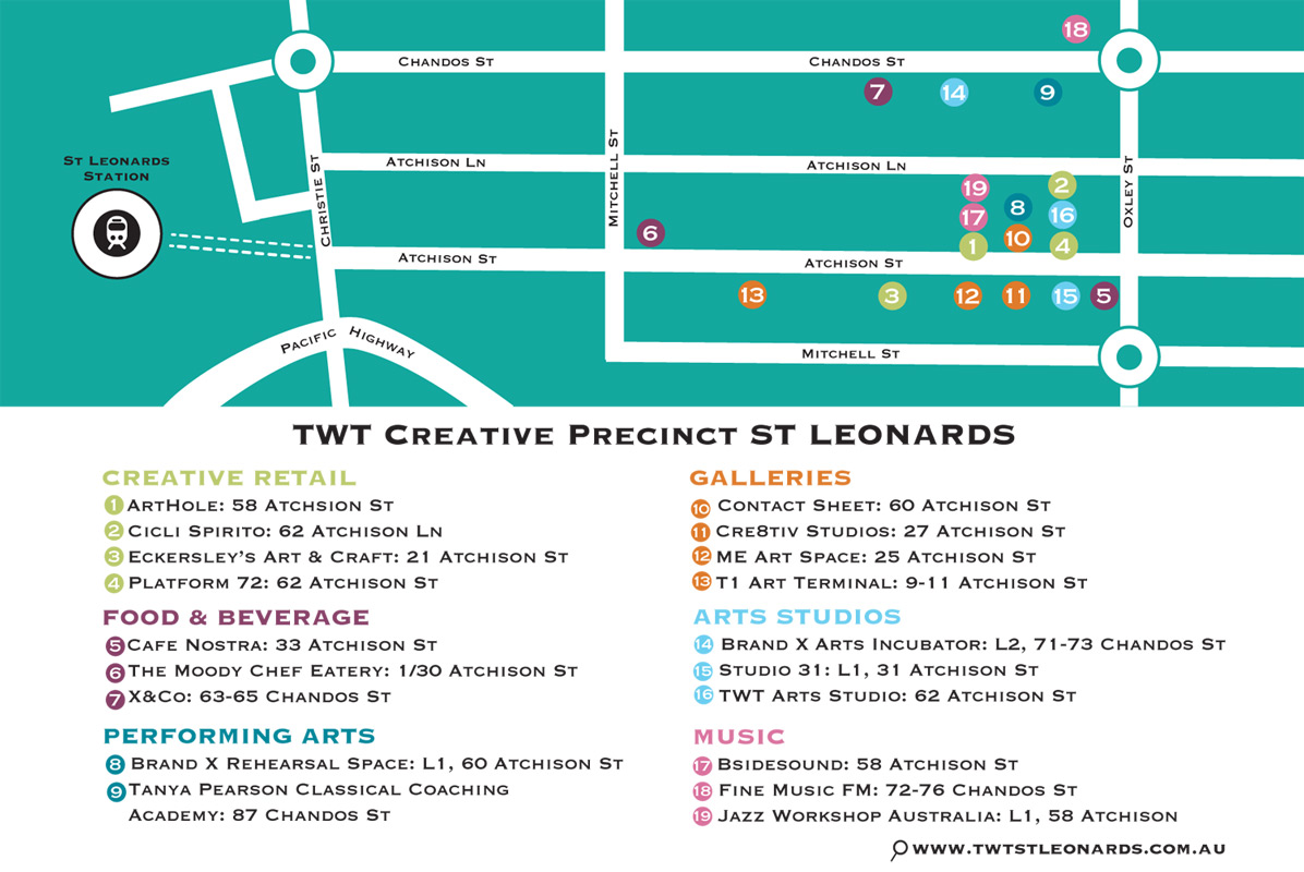 TWT Creative Precinct Map