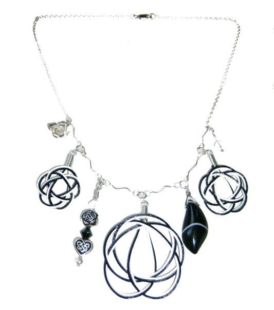 Elizabeth Johnston black & white mandala necklace