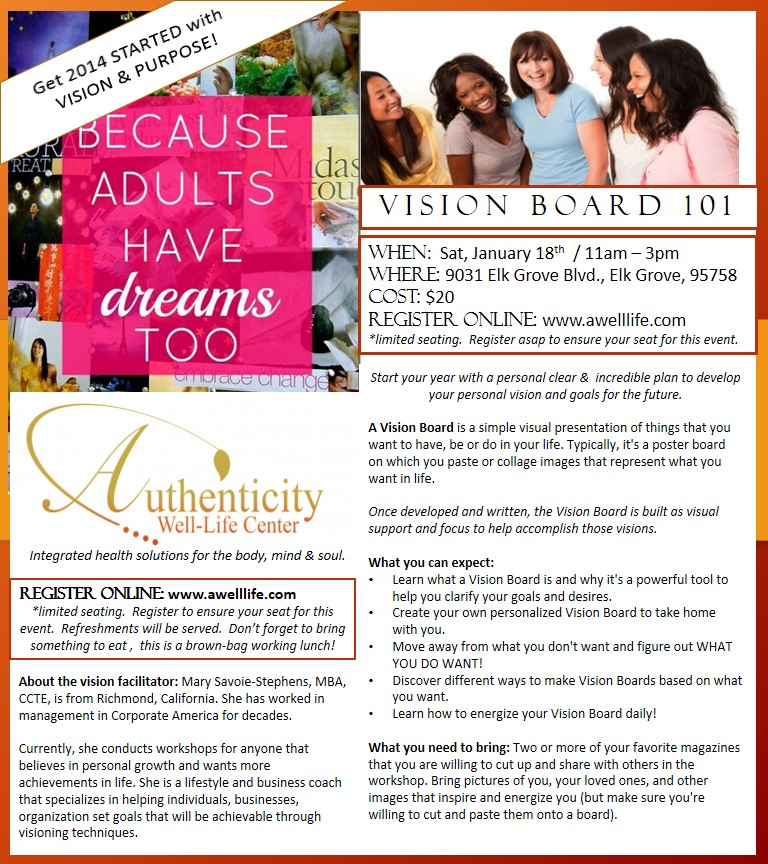 EVENTS |Events Vision Board