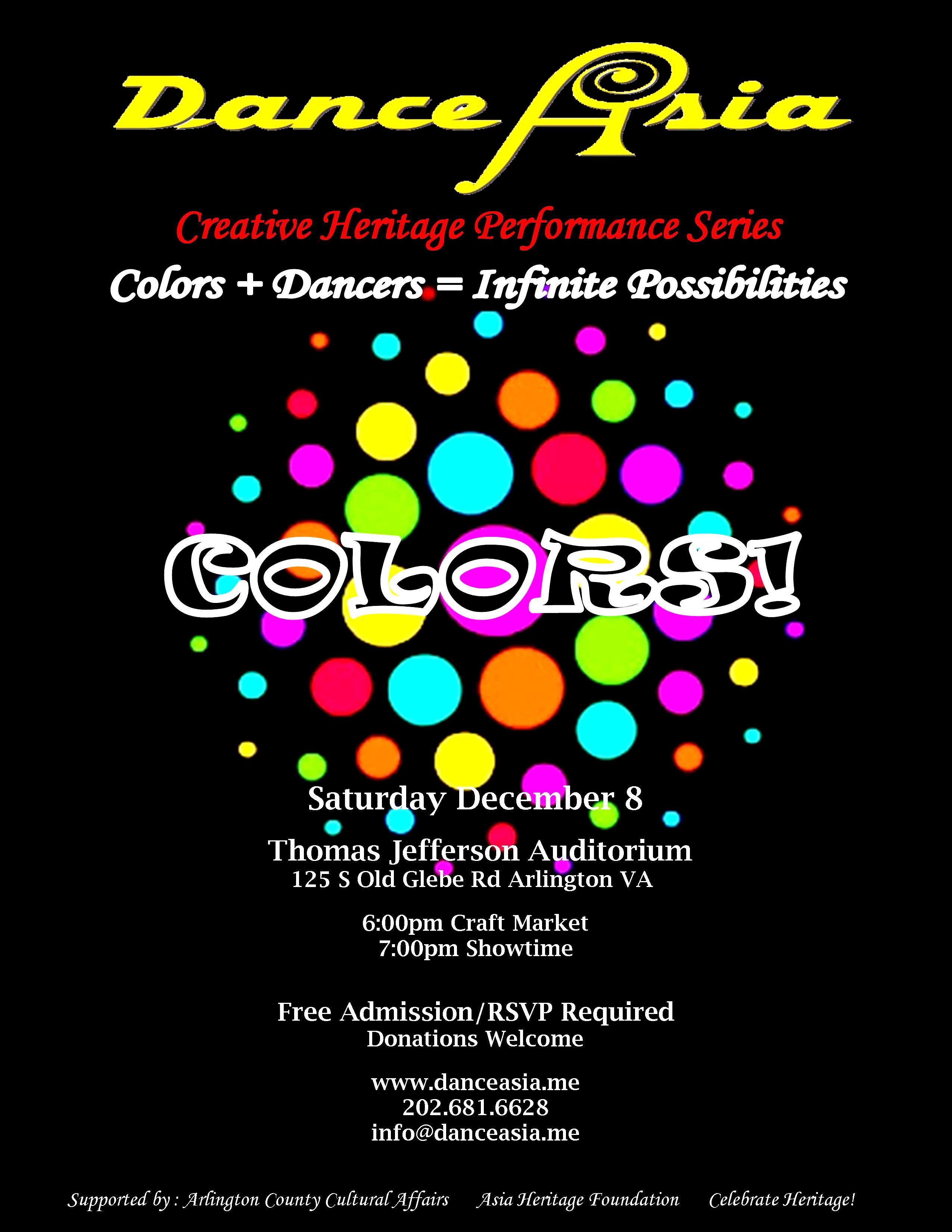 2012 Dance Asia Colors! Flyer