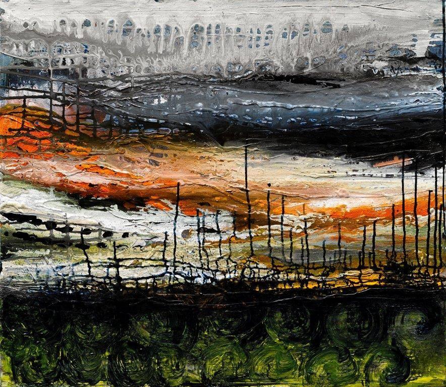 Gita Levy,Landscape,Mixed Media on Canvas,31.5''x28''
