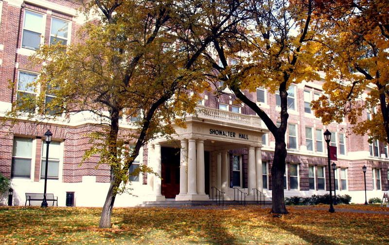 EWU's Showalter Hall in Autumn