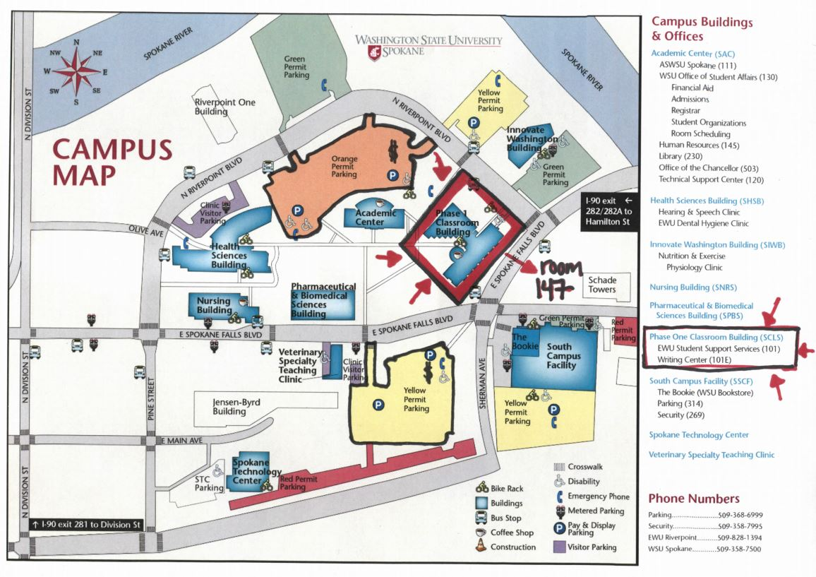 WSU/EWU Riverpoint Campus Map