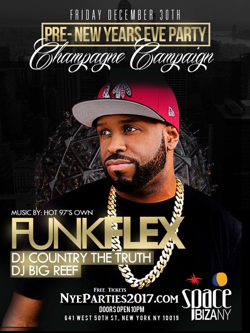 12 30 New Years Weekend W Dj Funk Flex Space Ibiza