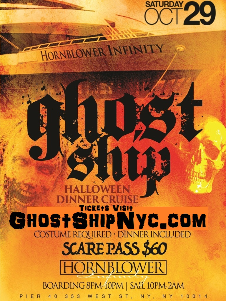 10/29 HAlloween costume Big Yacht party Ghost Ship NYC @ | Wantickets
