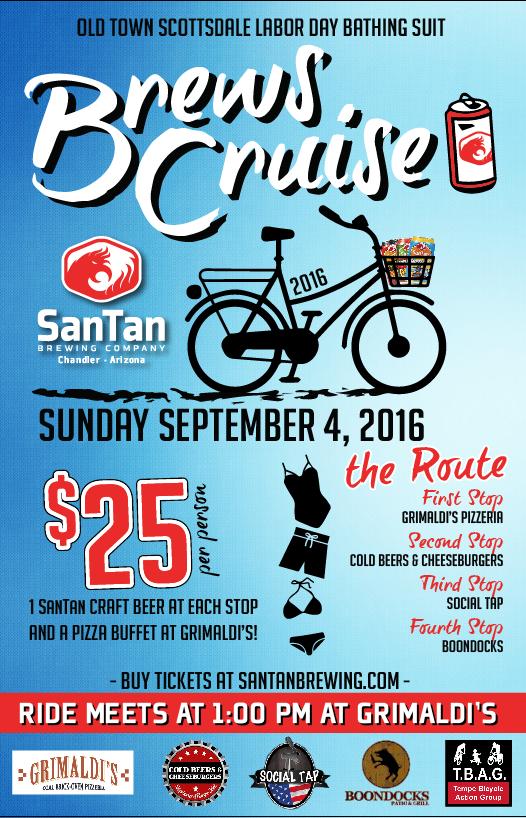 SanTan Brewing Labor Day Brews Cruise 2016 poster