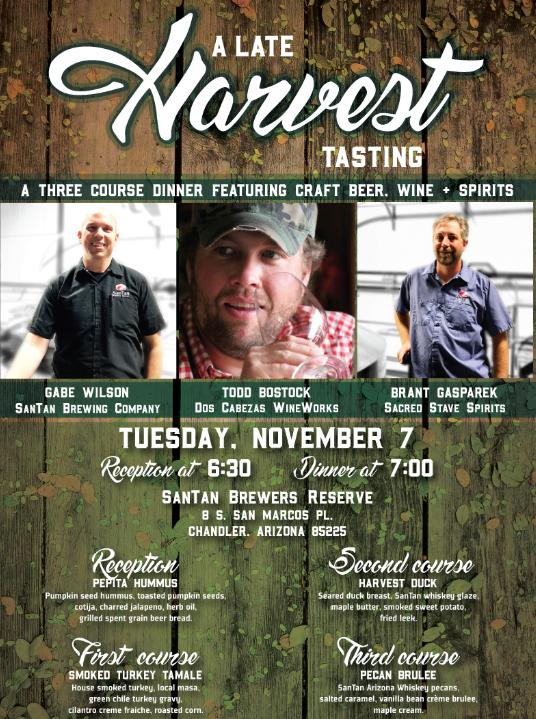 Late Harvest Dinner poster 2017