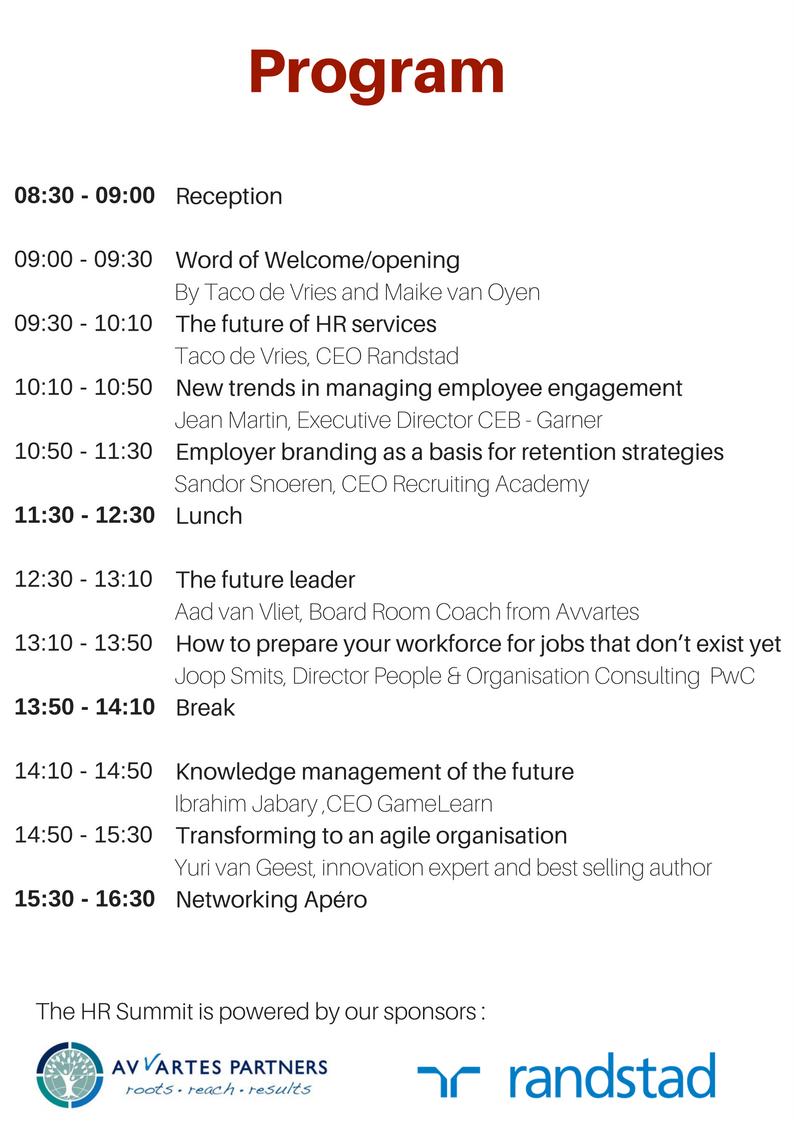 HR Summit Program