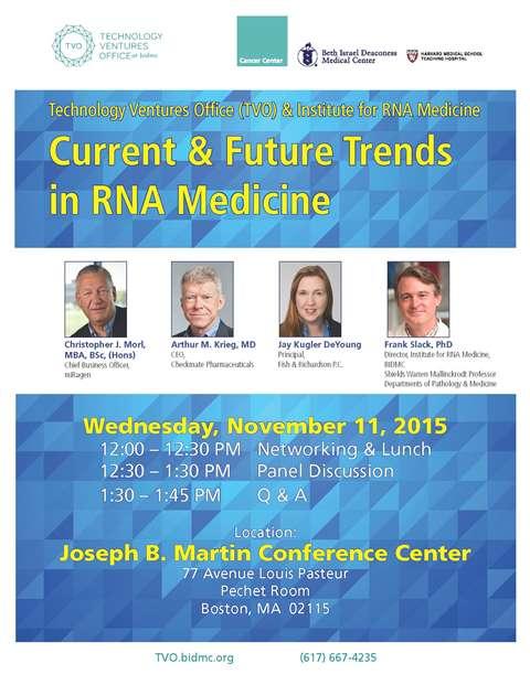 Current & Future Trends in RNA Medicine panel discussion Nov. 11 2015